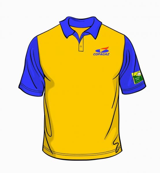 4c8b2cb254279 Camisa Polo Amarela